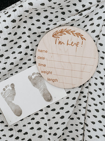 Birth Announcement Chip - Leaves