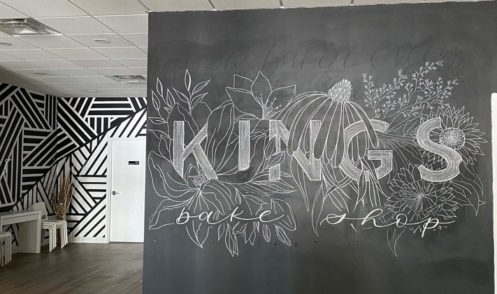 Large Chalk Wall Mural