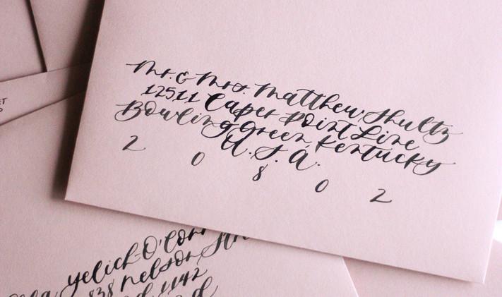 Custom Classic Font Envelope Calligraphy