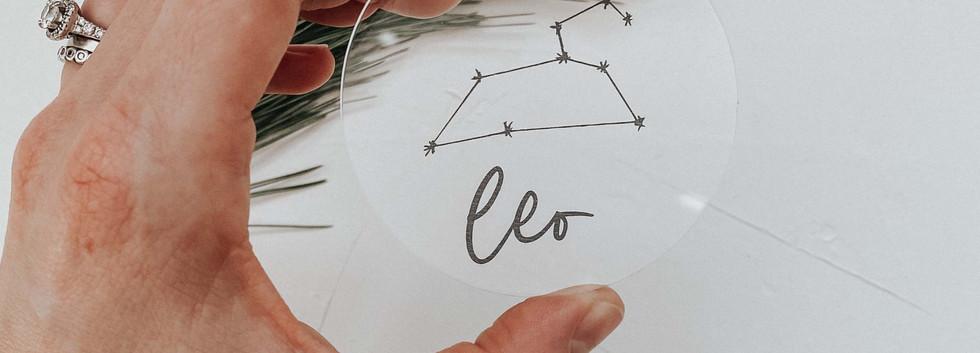 Clear Acrylic Zodiac Ornament