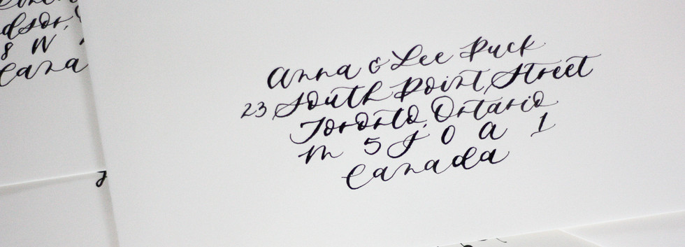 Modern Calligraphy Style Envelope Calligraphy