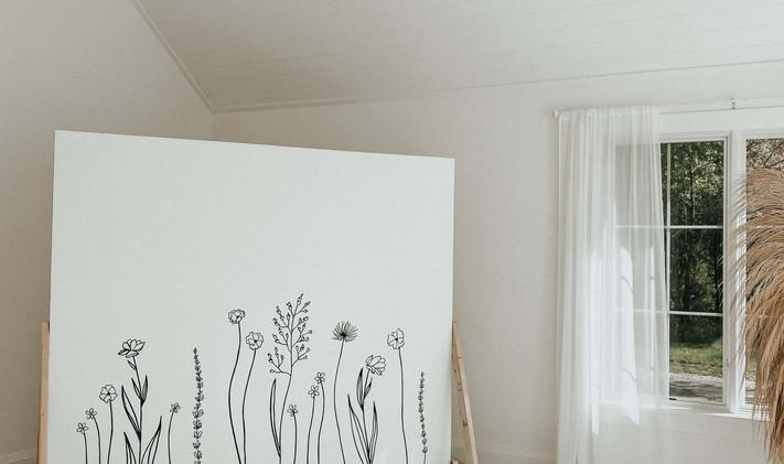 Line Drawn Floral Backdrop