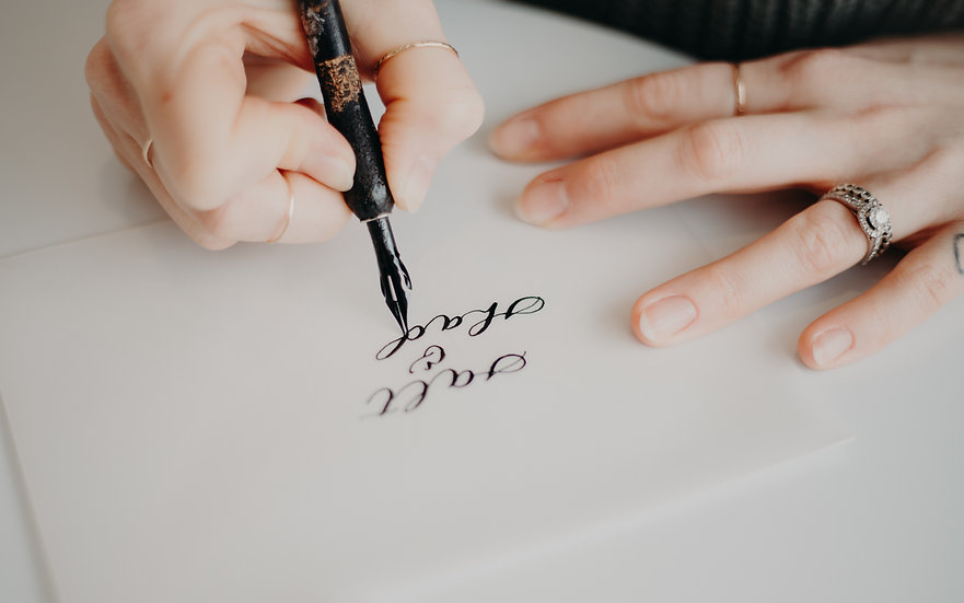 Pointed Pen Calligraphy Class