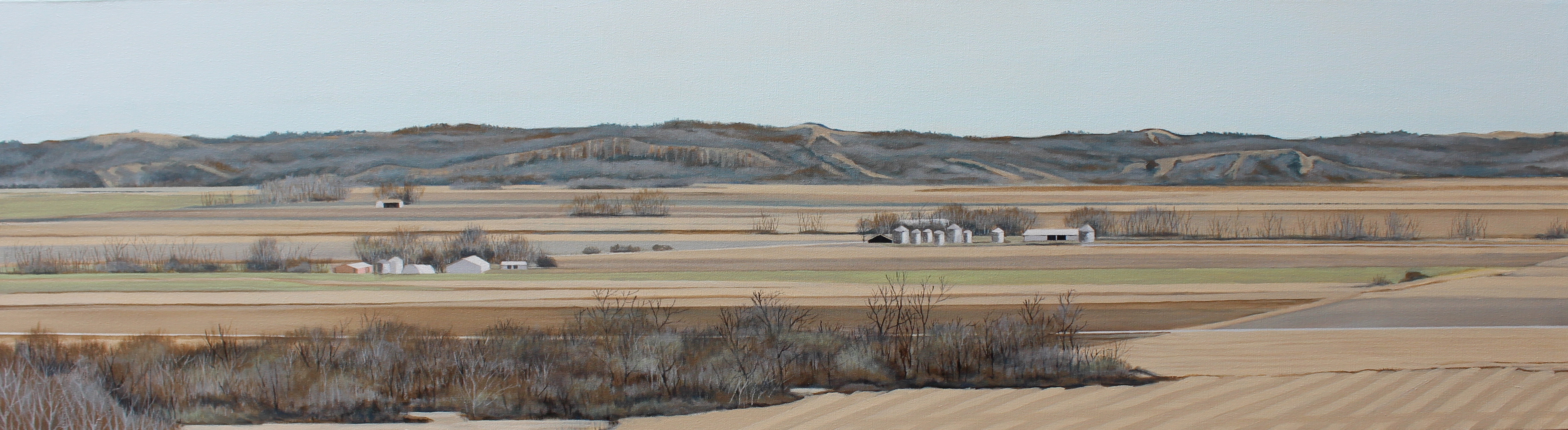 """Striations, Missouri River Valley"""