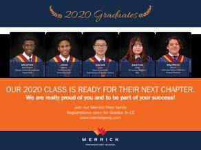 University acceptances – Class of 2020