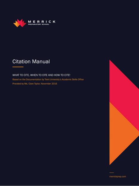Citation Manual