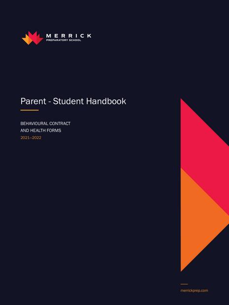 Parent-Student Handbook 2021-2022