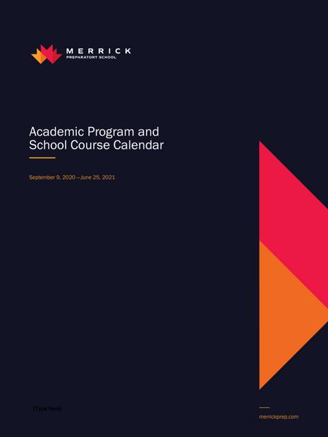 Academic Program & School Course Calendar