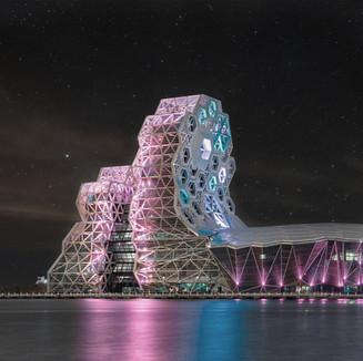 Torres del Centro de Música Pop de Kaohsiung. Taiwán. 2020