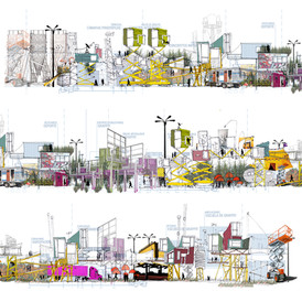 Urban intervention in the area of the Satellite Towers. Mexico. 2009