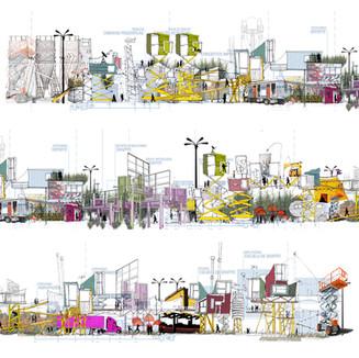 Intervención urbana en el área de las Torres de Satélite. Mexico. 2009