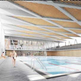 La Cebada Sports Center in La Latina. Madrid. 2017