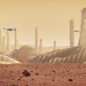 ALGI. Mars Colony of 1 Million People. 2018