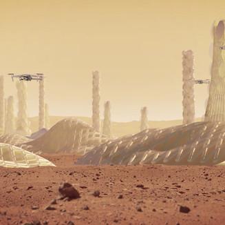 阿爾吉在火星上有百萬居民的殖民地。 2018年