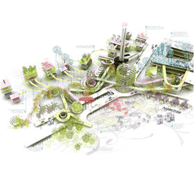 """The Five Conditions"". Lillestrøm Urban Development. Norway. EUROPAN 2007"