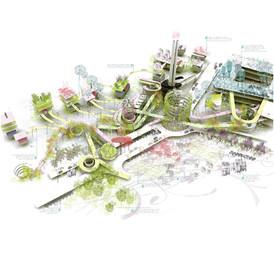 """The Five Conditions"". Lillestrøm Urban Development. Norway. EUROPAN 2007"
