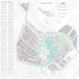 Urban Plan of La Marina. Madrid. 2008