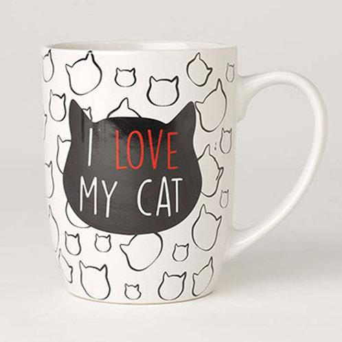 Tasse ''I love my cat''