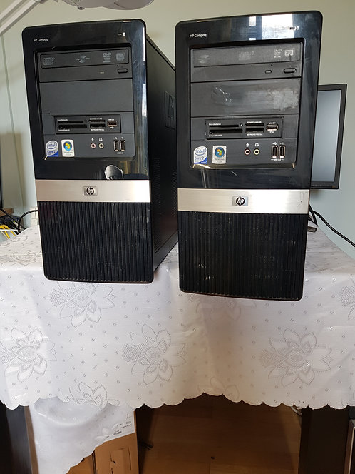 2 HP Compaq Tower Only