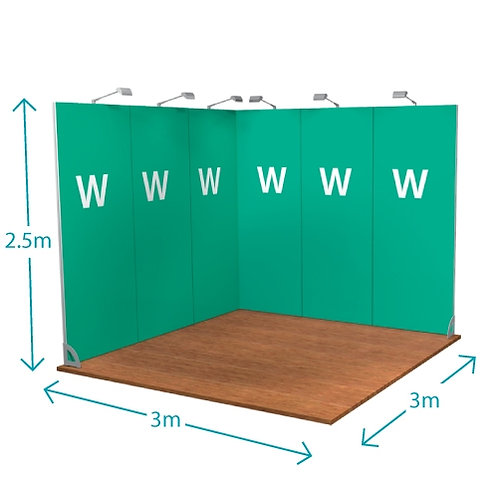 Linear Modular Stand - 9m sq
