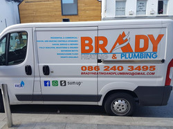 Brady Heating and Plumbing vehicle graph
