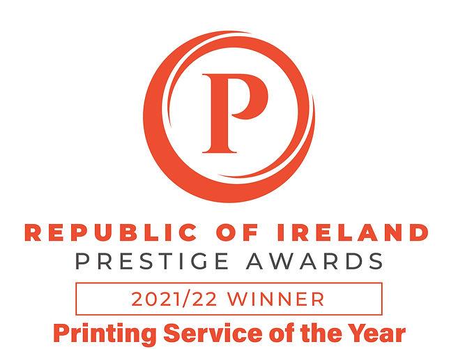 Printing service of the year award 2021-2022