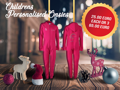 Childrens Personalised Christmas Onsies