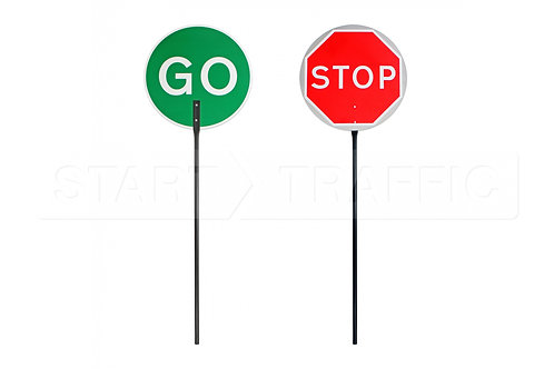 Stop/Go Double Sided Lollipop Sign