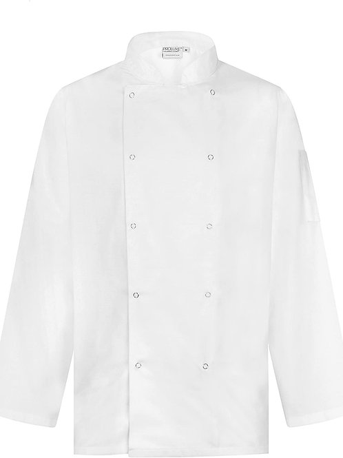 Unisex Long Sleeve Stud Front Chef's Jacket
