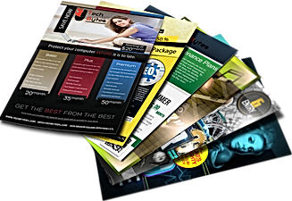 Printed flyers and brochures