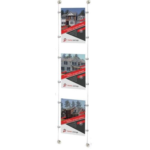 Acrylic Cable Poster Display Kits