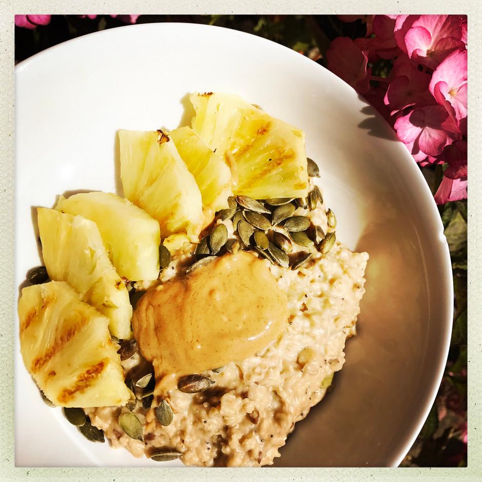 Griddled Pineapple Porridge