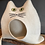 Thumbnail: MIEZI naturweiß mit katzengrünen Augen - sofort versandbereit