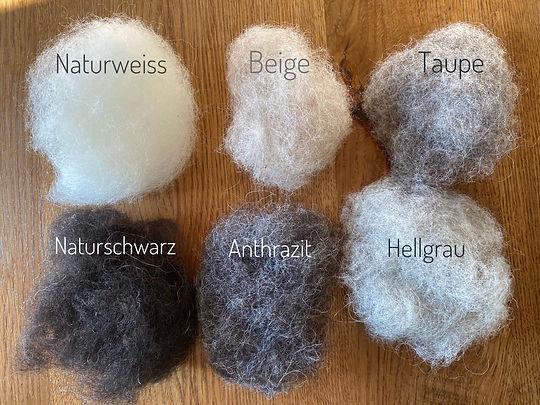 Die unterschiedlichen Wollfarben