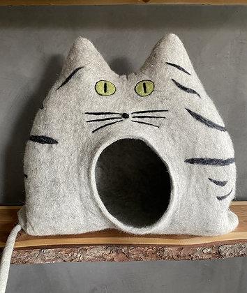 POLLY Tigerkatze hellgrau mit offenen Augen - sofort versandbereit!