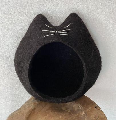 Das Katzencabrio naturschwarz - sofort versandbereit!