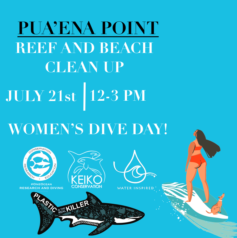 Keiko Conservation Hawaii Reef And Beach Marine Debris Cleanup with our partners at One Ocean Conservation x Water Inspired!