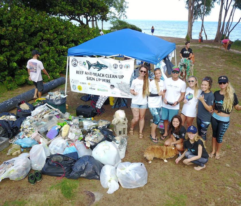 Natalie Parra Ocean Ramsey Juan Oliphant Tracy Izor #NerdsAgainstNurdles Waimanalo Beach Clean Up Keiko Conservation One Ocean Conservation