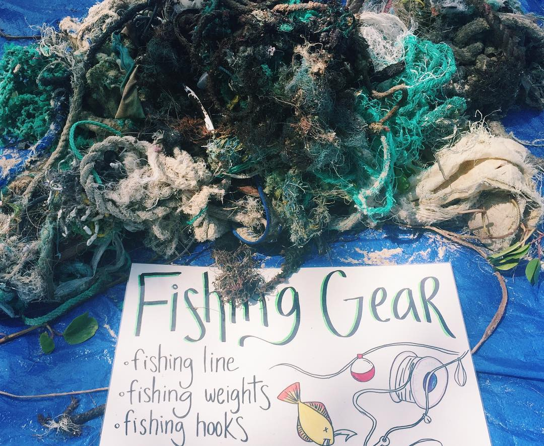 Discarded Fishing Gear Ghost Nets Oahu Hawaii Keiko Conservation
