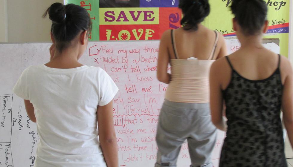 Teaching at Center of Hope