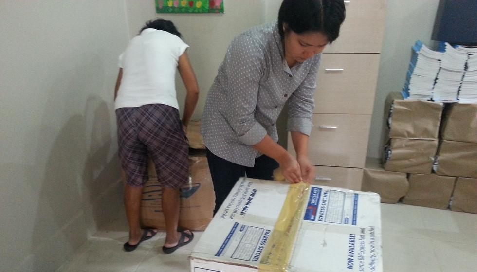 Unpacking Donation Boxes