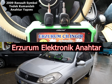 2009 Renault Symbol Yedek Kumandalı Anahtar Yapımı