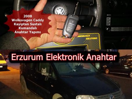 2008 Wolksvagen Caddy Kayıptan Sustalı Kumandalı Anahtar Yapımı