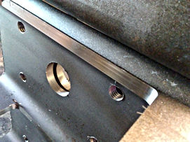 Part modification was needed for these parts and it was achieved using both manual machining and CNC machining