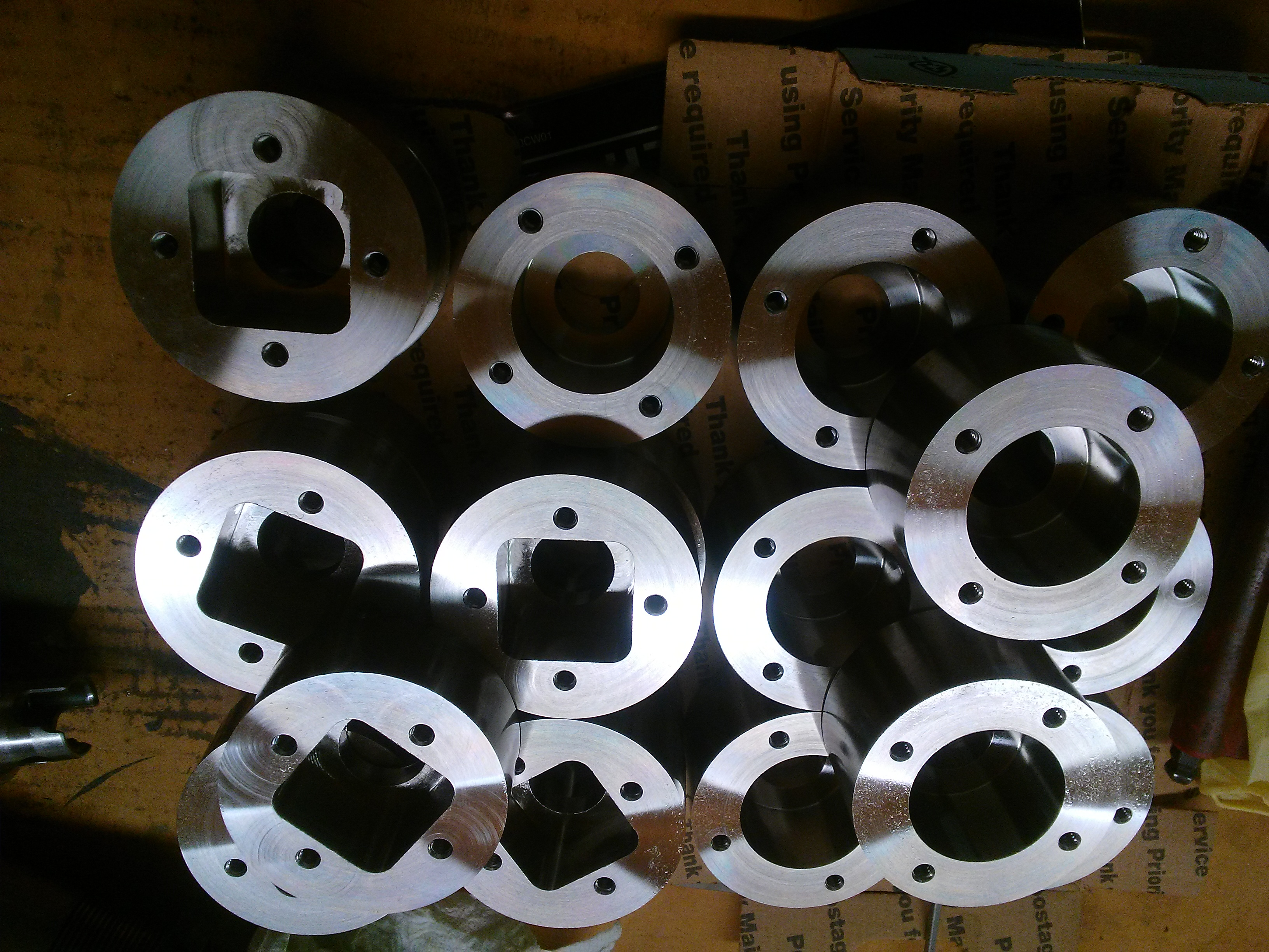 Stainless Hubs For Future Weldment