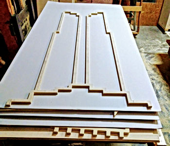 Precision Fablab was outsourced by Saha Designs to CNC cut these very large and very thin diameter shapes to be placed on a jig that we also CNC machined for them