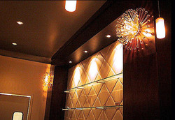 """Cavu"" acrylic wall light fixture"