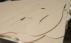 Huge letters CNC Routed for a large company sign made out of MDF