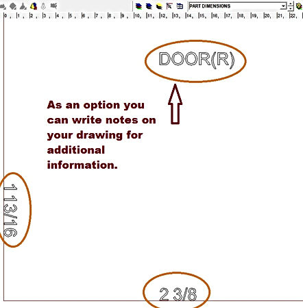 Written information pertaining to the image shown is used on this CAD to provide more detail