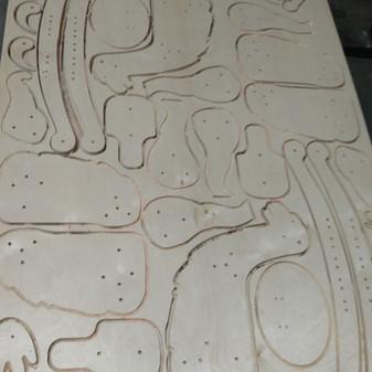 Mixture Of Small & Medium CNC Cut Parts